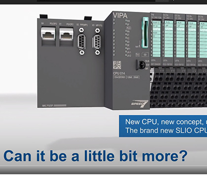 The New VIPA SLIO PLC family – compact, small and fast!